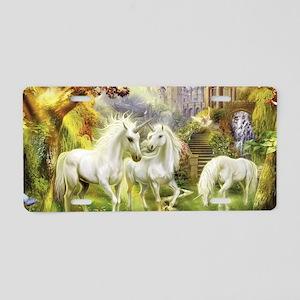 Fantasy Unicorns Aluminum License Plate