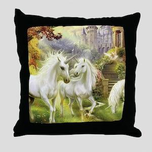Fantasy Unicorns Throw Pillow