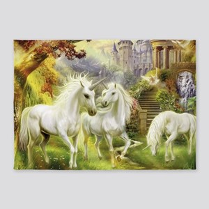 Fantasy Unicorns 5'x7'Area Rug