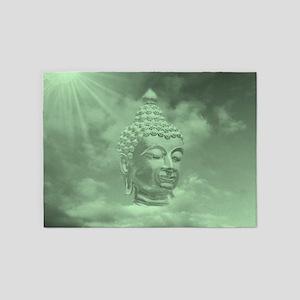 buddha in green 5'x7'Area Rug