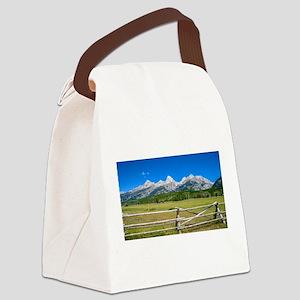 Grand Teton National Park Canvas Lunch Bag