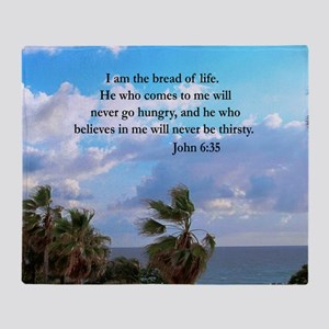 JOHN 6:35 Throw Blanket