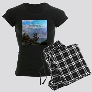 JOHN 6:35 Women's Dark Pajamas