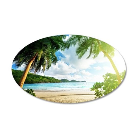 Tropical Beach Wall Decal & Tropical Wall Decals - CafePress