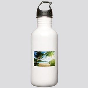 Tropical Beach Water Bottle