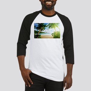 Tropical Beach Baseball Jersey
