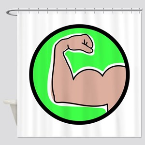 Bicep Curl Shower Curtain