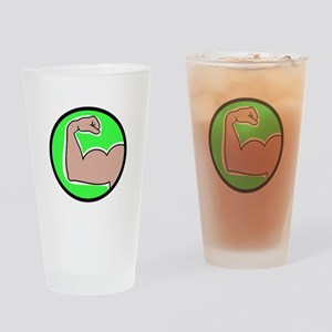 Bicep Curl Drinking Glass
