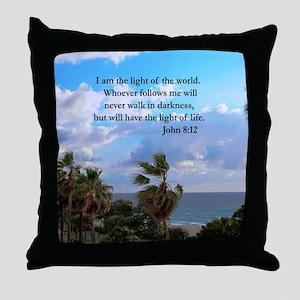 JOHN 8:12 VERSE Throw Pillow