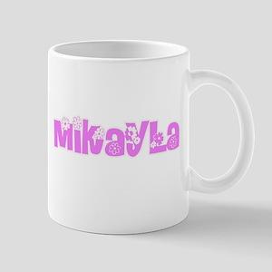 Mikayla Flower Design Mugs