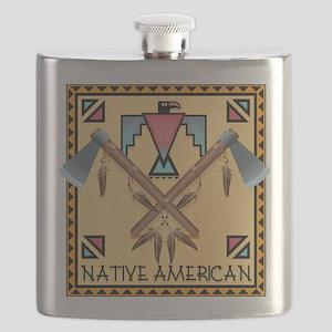 Native American Tomahawks Flask