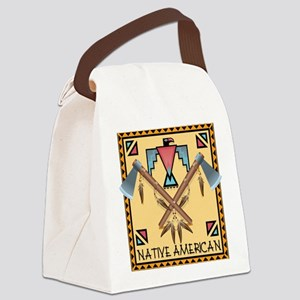 Native American Tomahawks Canvas Lunch Bag