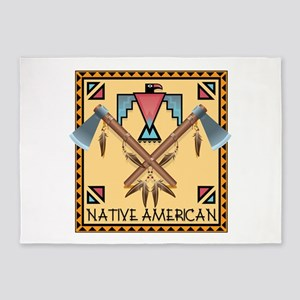 Native American Tomahawks 5'x7'Area Rug