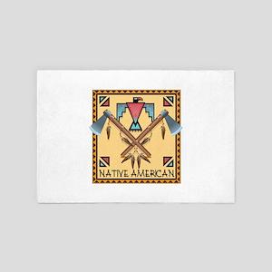 Native American Tomahawks 4' x 6' Rug