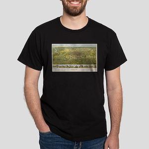 Vintage Map of Houston Texas (1891) T-Shirt