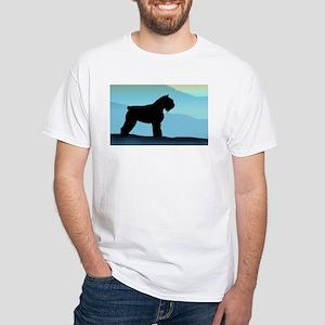 Blue Mountains Bouvier Dog White T-Shirt