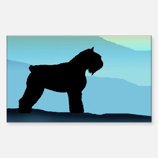 Blue Mountains Bouvier Dog Rectangle Decal