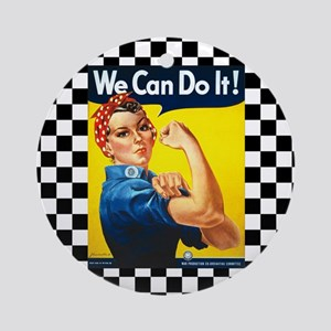 Rosie the Riveter We Can Do It Ornament (Round)