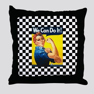 Rosie the Riveter We Can Do It Throw Pillow