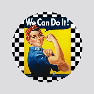 Rosie the Riveter We Can Do It Button