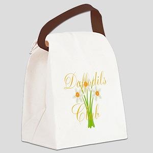 Cute Daffodils Watercolor Gardene Canvas Lunch Bag