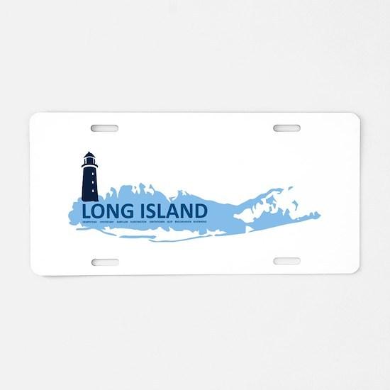 Long Island - New York. Aluminum License Plate