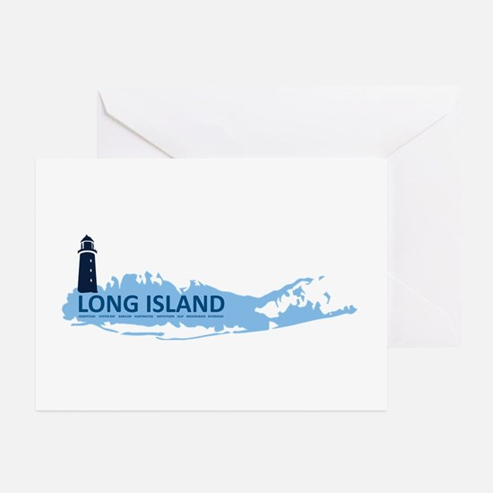Long Island - New York. Greeting Cards (pk Of 10)