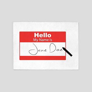Jane Doe 5'x7'Area Rug