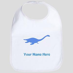 Plesiosaurus Silhouette (Blue) Bib
