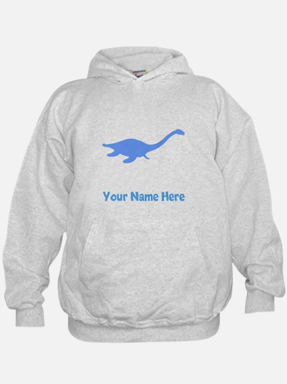 Plesiosaurus Silhouette (Blue) Hoodie