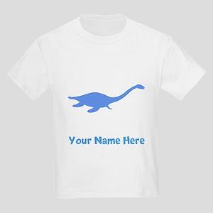 Plesiosaurus Silhouette (Blue) T-Shirt