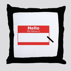 My Name Is Throw Pillow