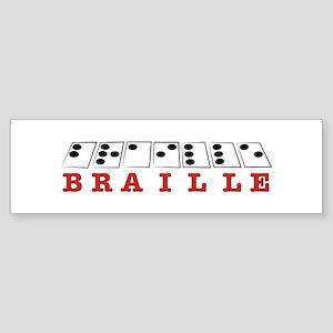 Braille Letters Bumper Sticker