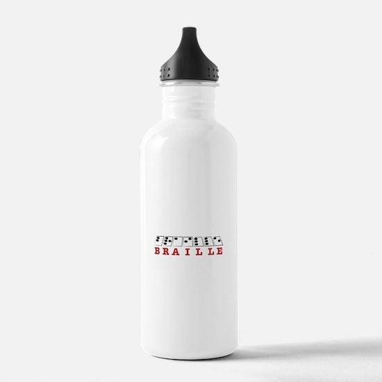 Braille Letters Water Bottle