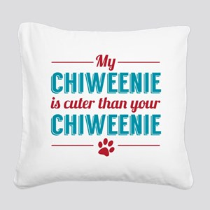 Cuter Chiweenie Square Canvas Pillow