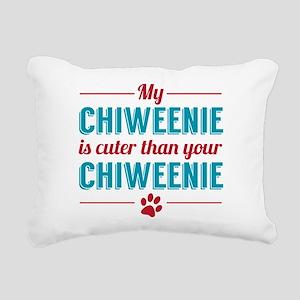 Cuter Chiweenie Rectangular Canvas Pillow