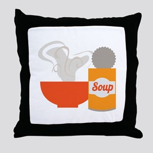 Soup Can Throw Pillow