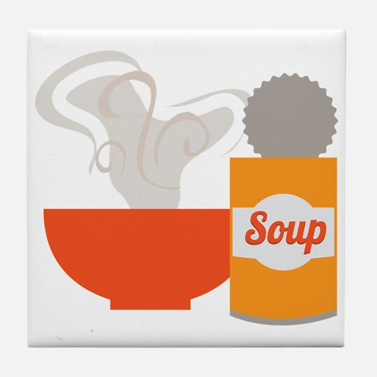 Soup Can Tile Coaster