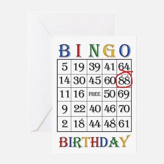 88th birthday Bingo card Greeting Cards