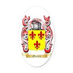 Mackle Oval Car Magnet