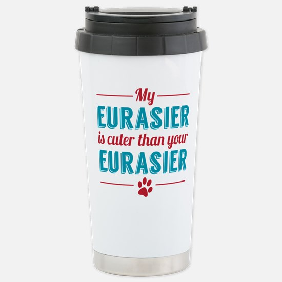 Cuter Eurasier Stainless Steel Travel Mug