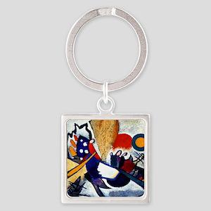 Kandinsky, Improvisation 29 Square Keychain