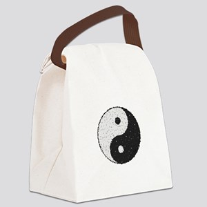 Yin And Yang Symbol With Texture Canvas Lunch Bag