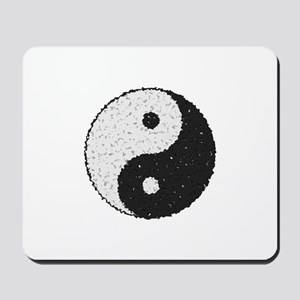 Yin And Yang Symbol With Texture Mousepad