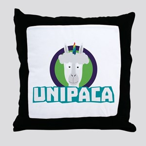Unipaca Unicorn Alpaca C67aj Throw Pillow