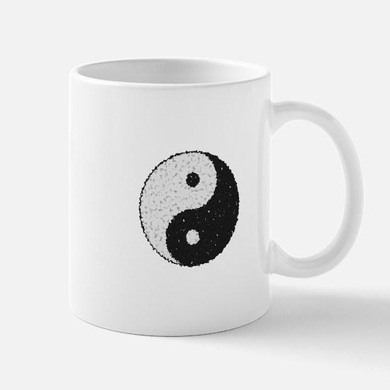 Yin And Yang Symbol With Texture Mugs