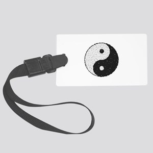 Yin And Yang Symbol With Texture Large Luggage Tag