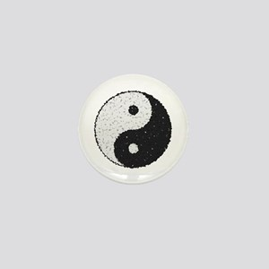 Yin And Yang Symbol With Texture Mini Button