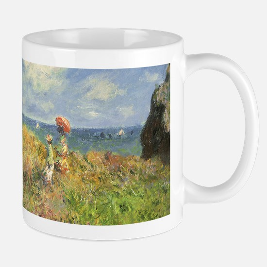 Cliff Walk at Pourville by Claude Monet Mugs