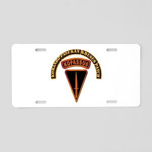 Komando Pasukan Khusus Pat Aluminum License Plate